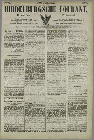 Middelburgsche Courant 1887-01-27