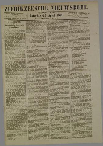 Zierikzeesche Nieuwsbode 1891-04-25