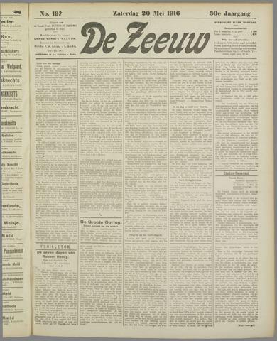 De Zeeuw. Christelijk-historisch nieuwsblad voor Zeeland 1916-05-20