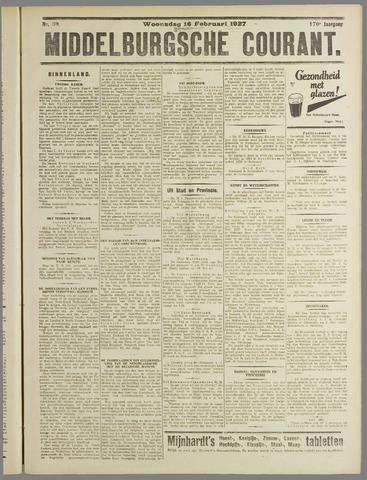 Middelburgsche Courant 1927-02-16