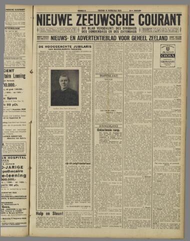 Nieuwe Zeeuwsche Courant 1925-08-14