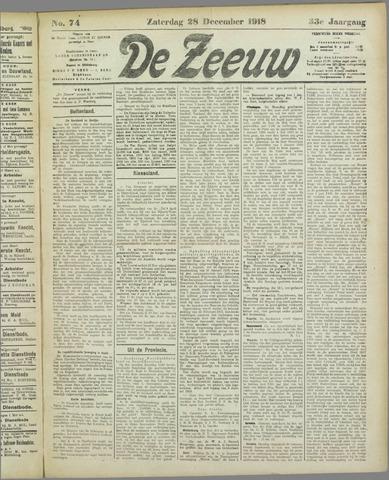 De Zeeuw. Christelijk-historisch nieuwsblad voor Zeeland 1918-12-28