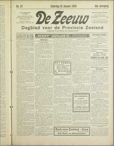 De Zeeuw. Christelijk-historisch nieuwsblad voor Zeeland 1929-01-12