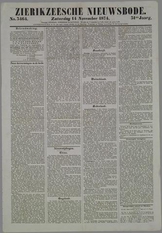 Zierikzeesche Nieuwsbode 1874-11-14