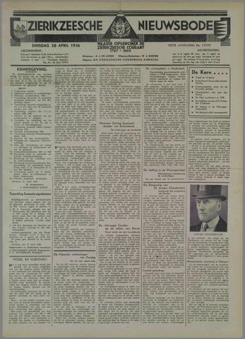 Zierikzeesche Nieuwsbode 1936-04-28