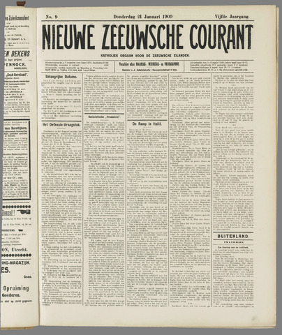 Nieuwe Zeeuwsche Courant 1909-01-21