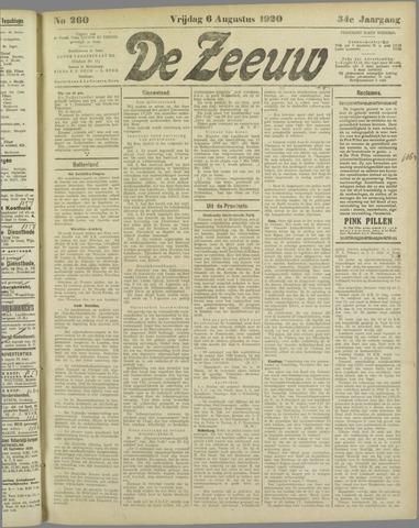 De Zeeuw. Christelijk-historisch nieuwsblad voor Zeeland 1920-08-06