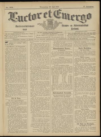 Luctor et Emergo. Antirevolutionair nieuws- en advertentieblad voor Zeeland / Zeeuwsch-Vlaanderen. Orgaan ter verspreiding van de christelijke beginselen in Zeeuwsch-Vlaanderen 1913-07-30
