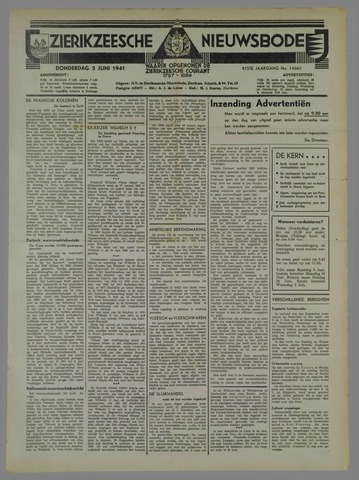 Zierikzeesche Nieuwsbode 1941-06-15