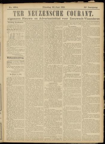 Ter Neuzensche Courant. Algemeen Nieuws- en Advertentieblad voor Zeeuwsch-Vlaanderen / Neuzensche Courant ... (idem) / (Algemeen) nieuws en advertentieblad voor Zeeuwsch-Vlaanderen 1919-06-24