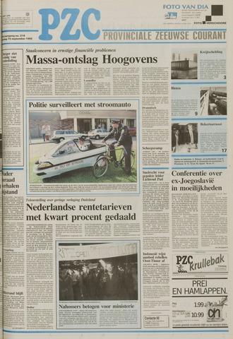 Provinciale Zeeuwse Courant 1992-09-15