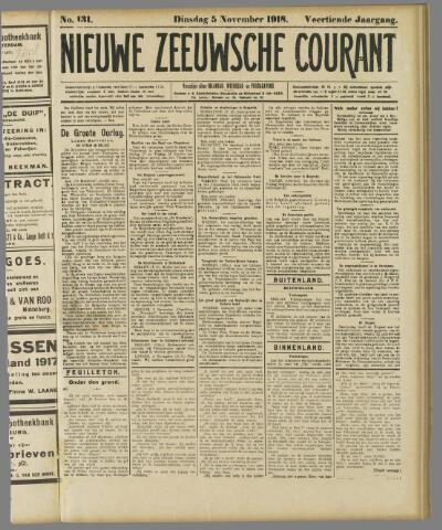 Nieuwe Zeeuwsche Courant 1918-11-05