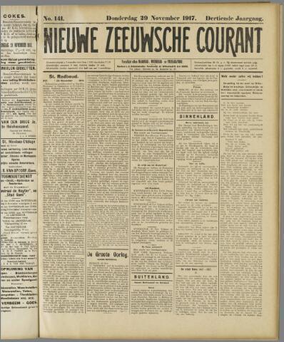 Nieuwe Zeeuwsche Courant 1917-11-29