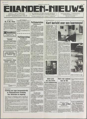 Eilanden-nieuws. Christelijk streekblad op gereformeerde grondslag 1985-02-12