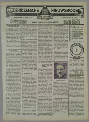 Zierikzeesche Nieuwsbode 1937-06-30