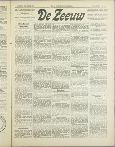 De Zeeuw. Christelijk-historisch nieuwsblad voor Zeeland 1934-12-12