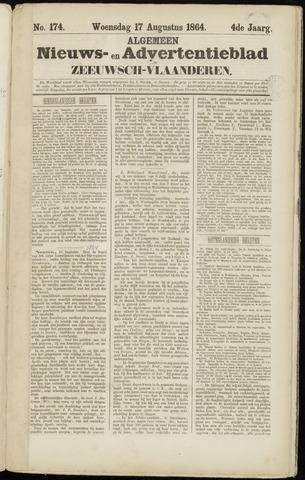 Ter Neuzensche Courant. Algemeen Nieuws- en Advertentieblad voor Zeeuwsch-Vlaanderen / Neuzensche Courant ... (idem) / (Algemeen) nieuws en advertentieblad voor Zeeuwsch-Vlaanderen 1864-08-17