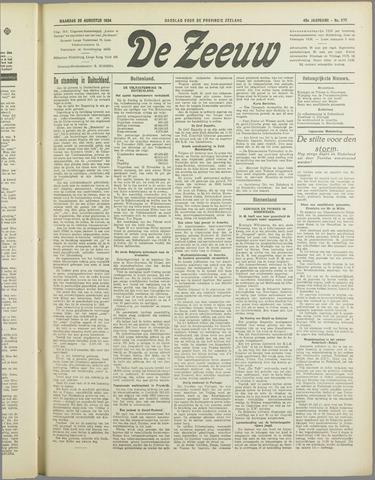 De Zeeuw. Christelijk-historisch nieuwsblad voor Zeeland 1934-08-20