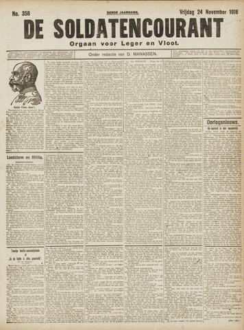 De Soldatencourant. Orgaan voor Leger en Vloot 1916-11-24