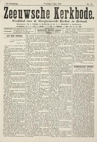 Zeeuwsche kerkbode, weekblad gewijd aan de belangen der gereformeerde kerken/ Zeeuwsch kerkblad 1916-05-05