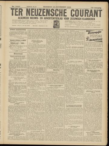 Ter Neuzensche Courant. Algemeen Nieuws- en Advertentieblad voor Zeeuwsch-Vlaanderen / Neuzensche Courant ... (idem) / (Algemeen) nieuws en advertentieblad voor Zeeuwsch-Vlaanderen 1939-11-20