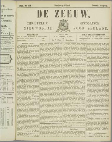 De Zeeuw. Christelijk-historisch nieuwsblad voor Zeeland 1888-06-14