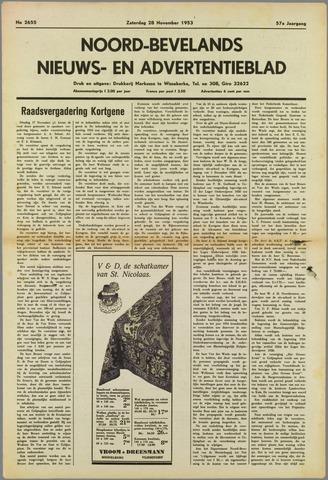 Noord-Bevelands Nieuws- en advertentieblad 1953-11-28