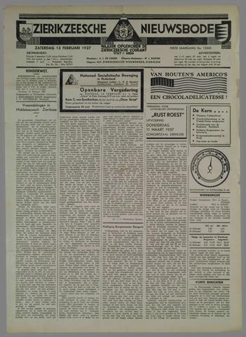 Zierikzeesche Nieuwsbode 1937-02-13