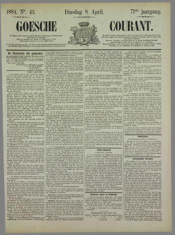 Goessche Courant 1884-04-08