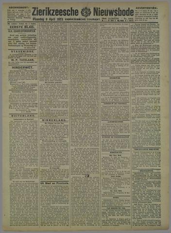Zierikzeesche Nieuwsbode 1923-04-09