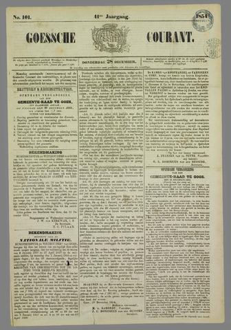 Goessche Courant 1854-12-28
