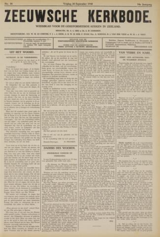 Zeeuwsche kerkbode, weekblad gewijd aan de belangen der gereformeerde kerken/ Zeeuwsch kerkblad 1940-09-20