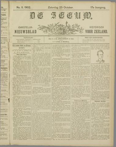 De Zeeuw. Christelijk-historisch nieuwsblad voor Zeeland 1902-10-25
