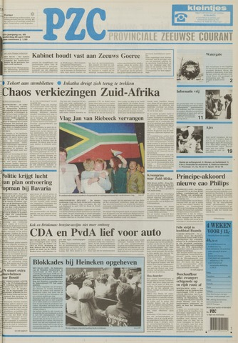 Provinciale Zeeuwse Courant 1994-04-28