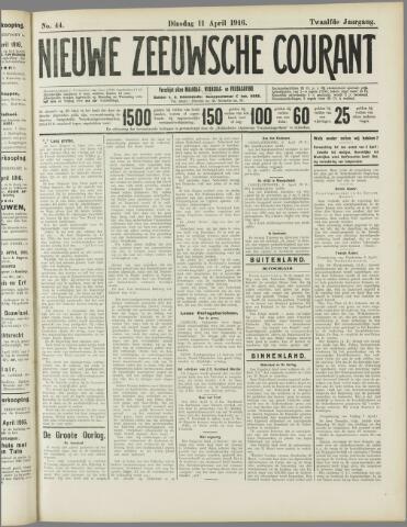 Nieuwe Zeeuwsche Courant 1916-04-11