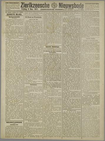Zierikzeesche Nieuwsbode 1917-11-09
