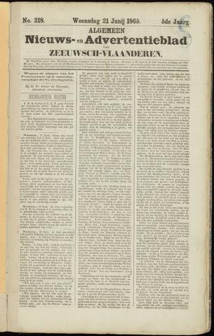 Ter Neuzensche Courant. Algemeen Nieuws- en Advertentieblad voor Zeeuwsch-Vlaanderen / Neuzensche Courant ... (idem) / (Algemeen) nieuws en advertentieblad voor Zeeuwsch-Vlaanderen 1865-06-21