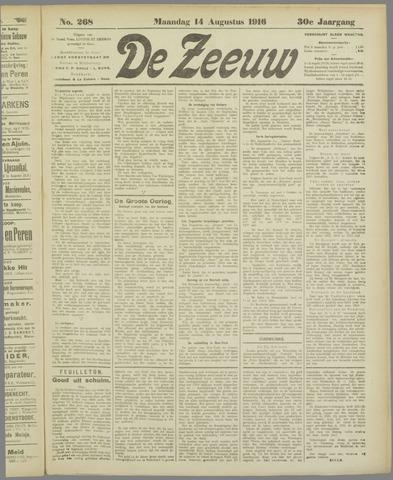 De Zeeuw. Christelijk-historisch nieuwsblad voor Zeeland 1916-08-14