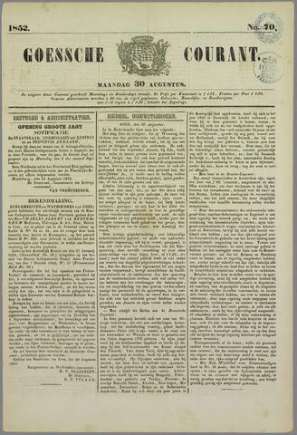 Goessche Courant 1852-08-30