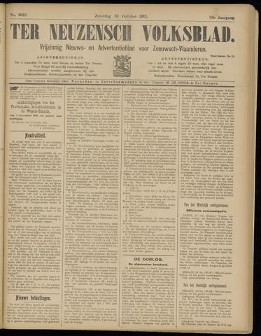 Ter Neuzensch Volksblad. Vrijzinnig nieuws- en advertentieblad voor Zeeuwsch- Vlaanderen / Zeeuwsch Nieuwsblad. Nieuws- en advertentieblad voor Zeeland 1915-10-30