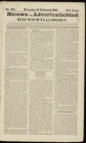 Ter Neuzensche Courant. Algemeen Nieuws- en Advertentieblad voor Zeeuwsch-Vlaanderen / Neuzensche Courant ... (idem) / (Algemeen) nieuws en advertentieblad voor Zeeuwsch-Vlaanderen 1861-02-13