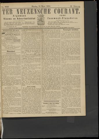 Ter Neuzensche Courant. Algemeen Nieuws- en Advertentieblad voor Zeeuwsch-Vlaanderen / Neuzensche Courant ... (idem) / (Algemeen) nieuws en advertentieblad voor Zeeuwsch-Vlaanderen 1914-03-10