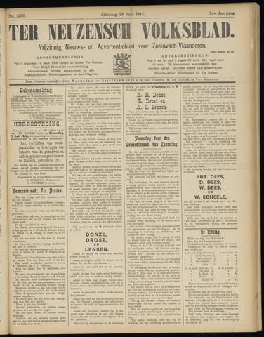Ter Neuzensch Volksblad. Vrijzinnig nieuws- en advertentieblad voor Zeeuwsch- Vlaanderen / Zeeuwsch Nieuwsblad. Nieuws- en advertentieblad voor Zeeland 1913-06-28
