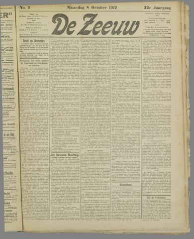 De Zeeuw. Christelijk-historisch nieuwsblad voor Zeeland 1917-10-08