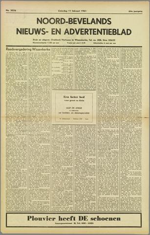 Noord-Bevelands Nieuws- en advertentieblad 1961-02-11