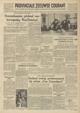 Provinciale Zeeuwse Courant 1954-10-04