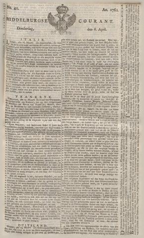 Middelburgsche Courant 1762-04-08