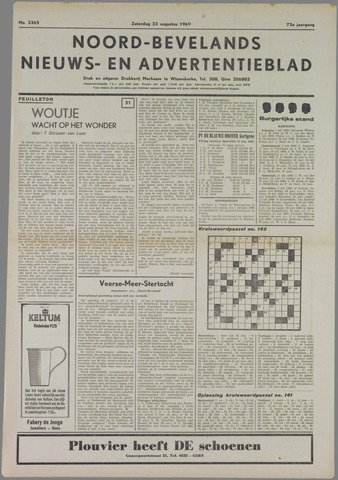 Noord-Bevelands Nieuws- en advertentieblad 1969-08-23