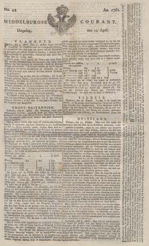 Middelburgsche Courant 1762-04-13