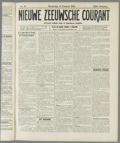 Nieuwe Zeeuwsche Courant 1909-02-18